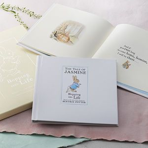 Personalised Tale Of Peter Rabbit Gift Boxed Book - what a lovely baby gift.