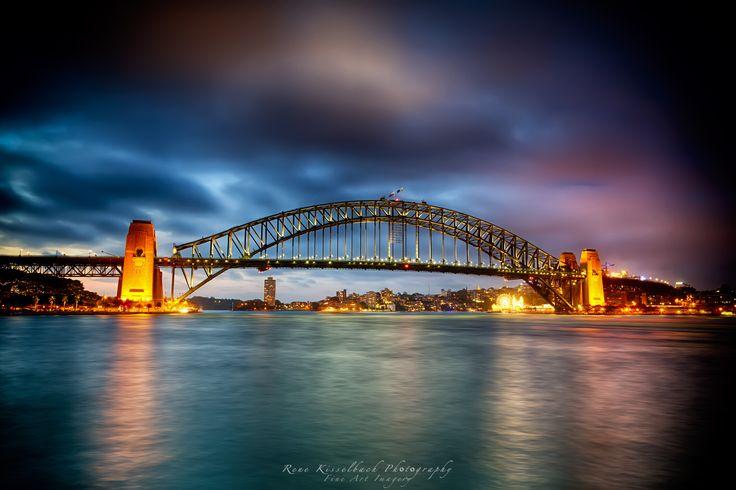 Sydney Harbour Bridge glowing at its best