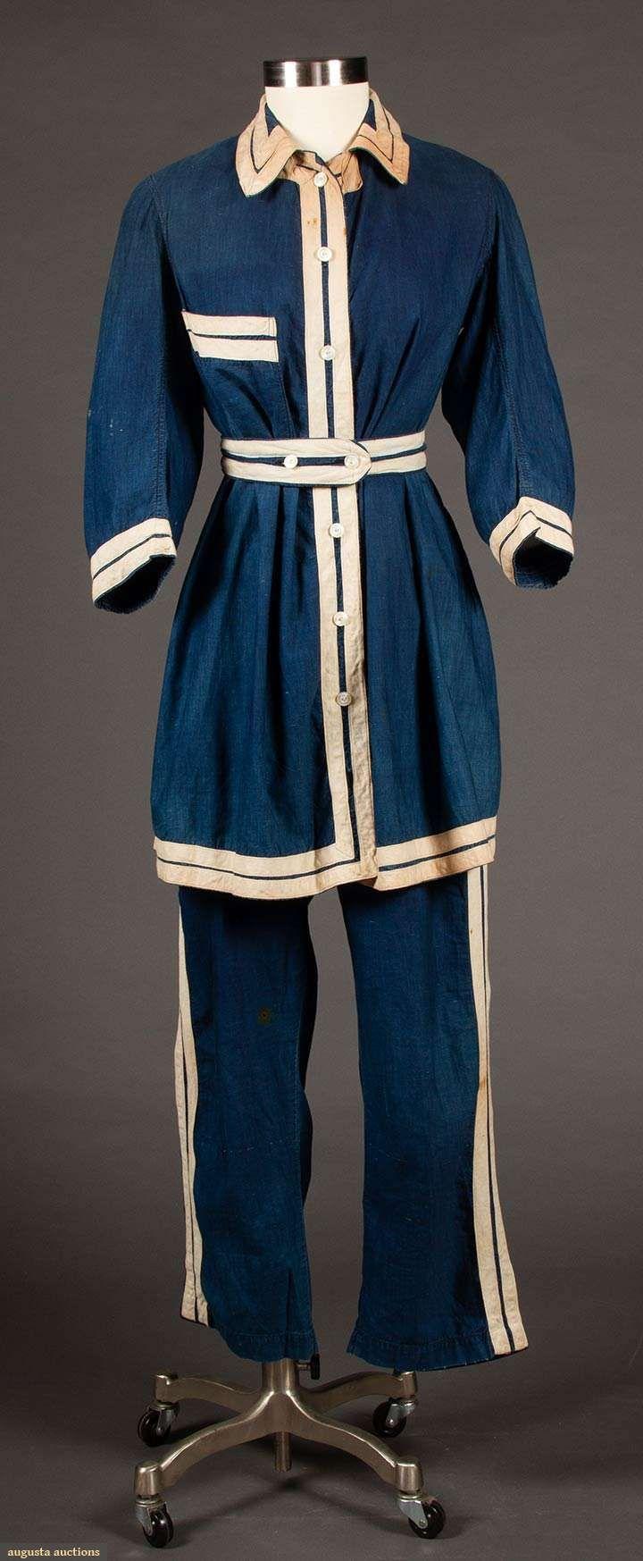 Women's Gym Suit (image 1) | 1900 | cotton | Augusta Auctions