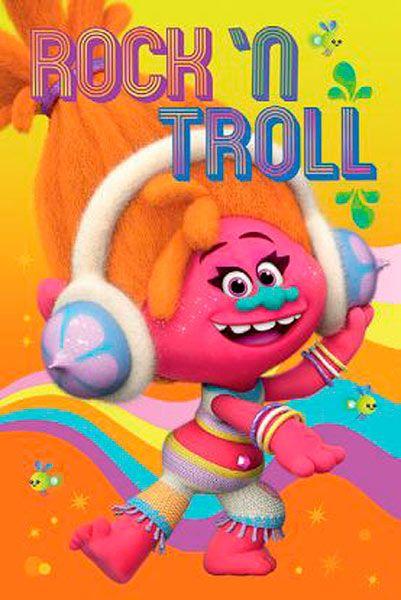 Póster DJ/ Rock 'n Troll. Trolls, 61 x 91,5 cm  Póster perteneciente a la película de animación Trolls.