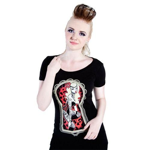 Peekaboo Keyhole Scoop Neck T-Shirt