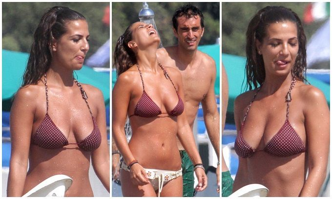 Potito Starace al mare con la sua Roberta Morise. Le foto del campione azzurro di tennis assieme alla fidanzata in vacanza a Marina di Pietrasanta.