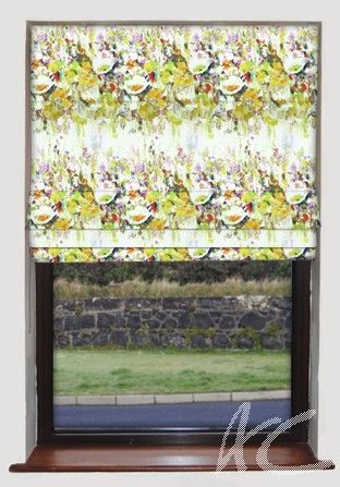 #Printworks #Flower #Garden #Ocre #Roman #Blind Floral #Outside #New #Home #Decortaing #Fabric