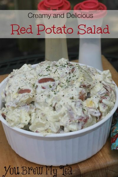 This creamy delicious red potato salad is a great choice for any meal!  Easy & tasty everyone will love this!