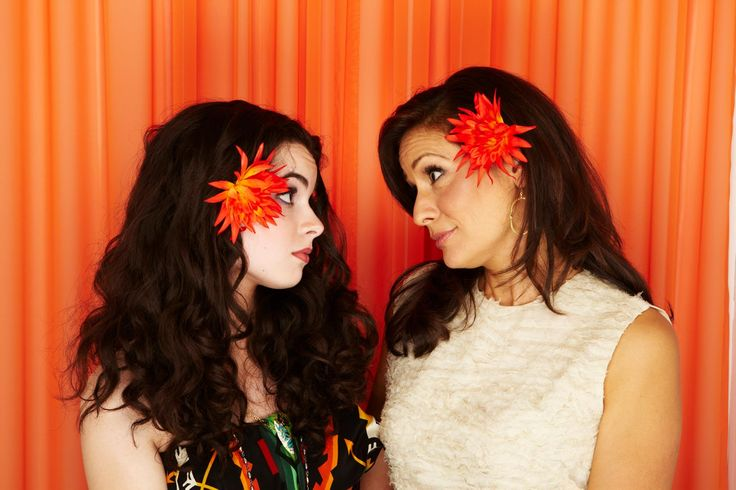 These matching flowers look so good on Vanessa Marano and Constance Marie. | Switched at Birth