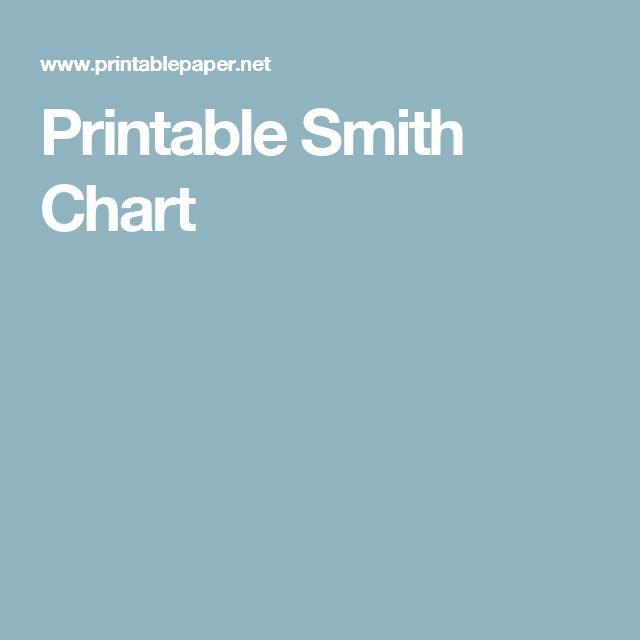 Printable Smith Chart