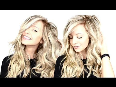 How to: Messy Beach waves - Khloe Kardashian inspired - YouTube