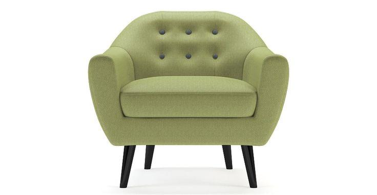 Brosa Kraesten Modern Danish Inspired Armchair - Jade Green  | $599.00