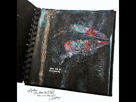 My black Journal - how to create a textured background