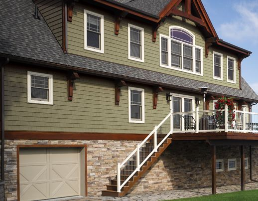 56 best images about houses with green siding on pinterest for Sustainable siding