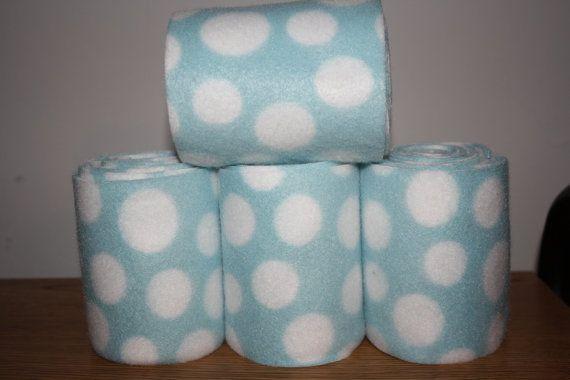 Blue Polka Dot Polo Wraps (set of four), Leg Wraps