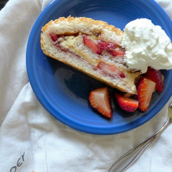 This Strawberry Fig Jelly Roll comes together easily for the perfect summer dessert!