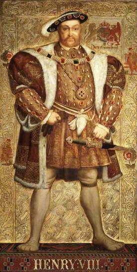 Henry VIII  By Richard Burchett   Oil on panel, 1850's