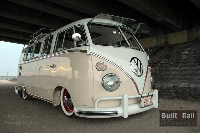 VW Combi t1 - two tones wheels, windows that flip toward the oncoming bugs - great retro!