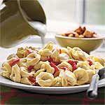 Roasted Red Pepper-Caesar Tortelloni Recipe | MyRecipes.com