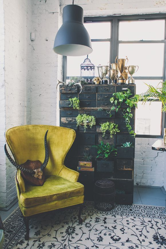 Check out this design-inspiring blog from FreePeople!  Really gets us in the mood for vintage rummage sales and old-world antiquing! Maybe we'll design some throw pillows aiming true with boho art, plants, colors, etc....!