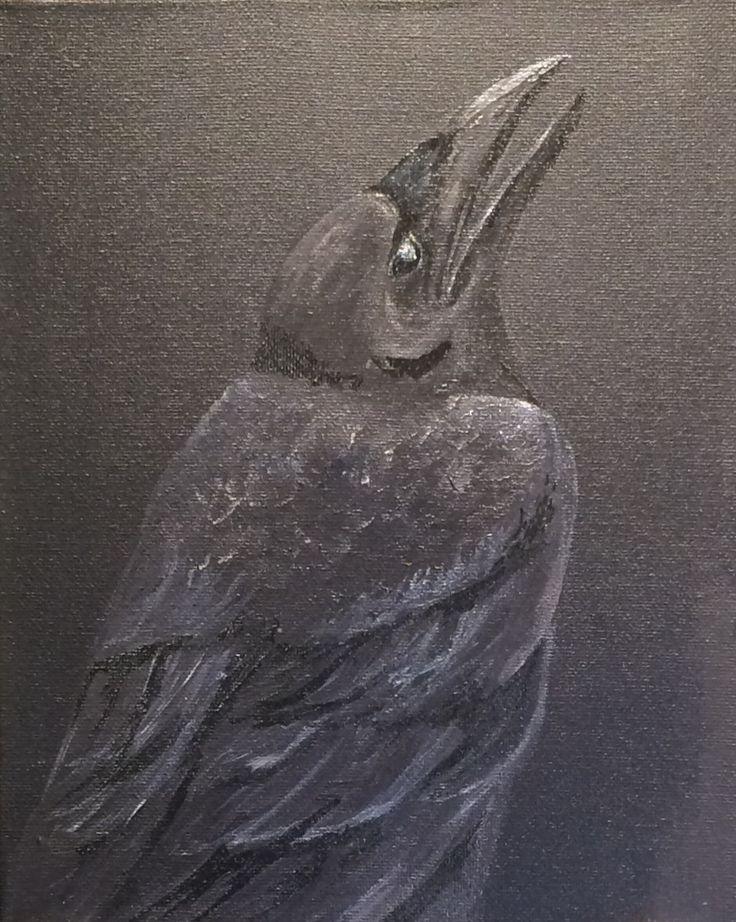 Raven  Acrylic on canvas