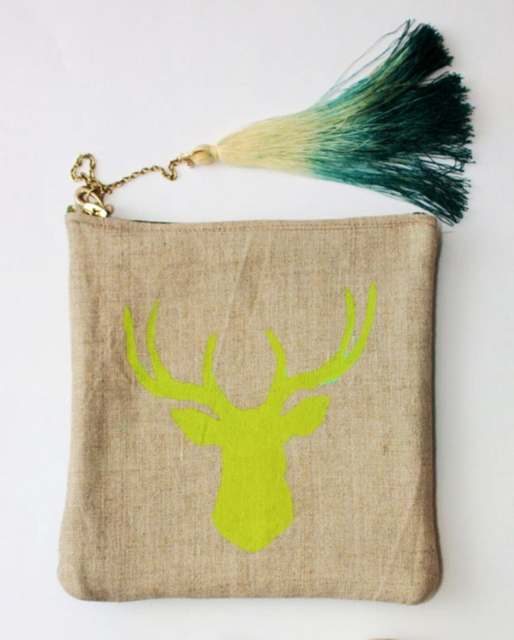 Statement Clutch - Forrest of deer by VIDA VIDA v88DzX5B