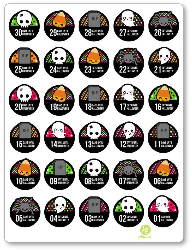 Best 25+ Halloween countdown ideas on Pinterest Halloween bucket - countdown calendar template