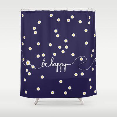 HAPPY DAISY Shower Curtain By Monika Strigel   $68.00