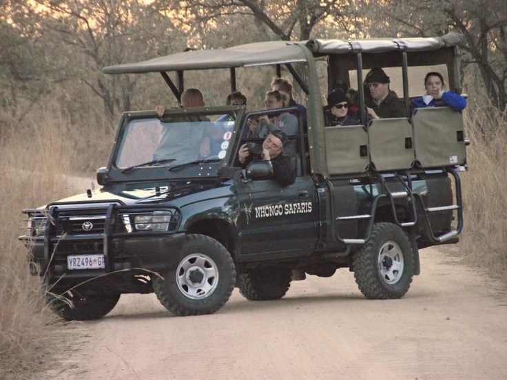 Guests on Open Sxafari Vehicle.