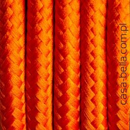 Przewód zasilający Marchewkowa Uczta od Kolorowe Kable- ciemnopomarańczowy kabel - casa-bella - oświetlenie to nasza pasja
