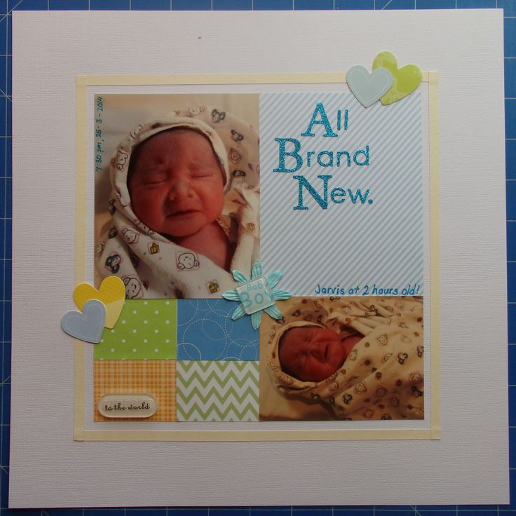 Scrapbook page by Laura: All brand new