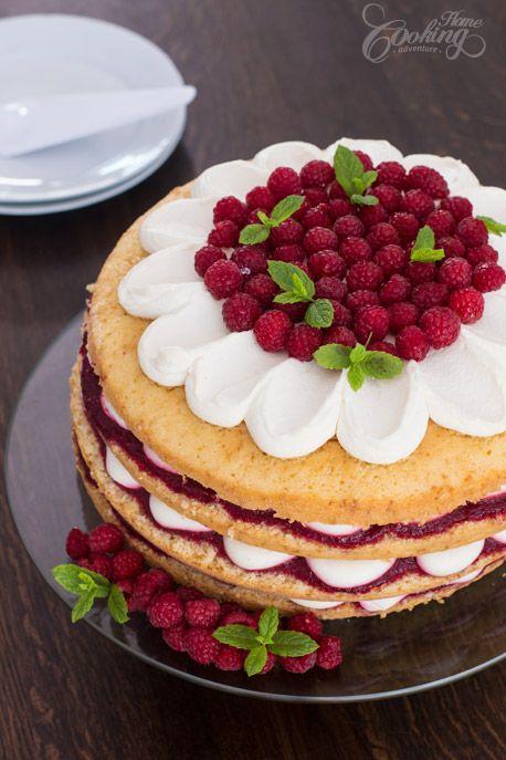 Raspberry Vanilla Cake-1
