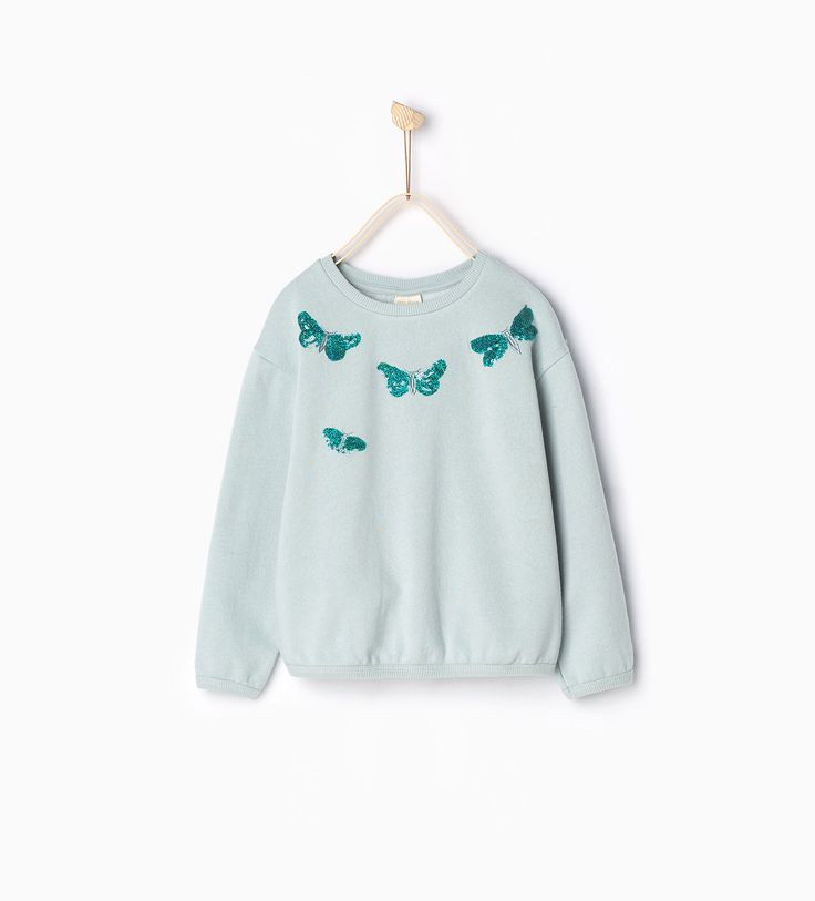 Sweat libellules à strass - Tops - Fille | 4 - 14ans - COLLECTION SS16 | ZARA France