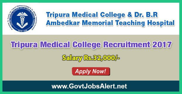 Tripura Medical College Recruitment 2017 - Hiring Assistant Technician Posts, Salary Rs.10,500/- : Apply Now !!!  The Tripura Medical College & Dr. B.R Ambedkar Memorial Teaching Hospital - Tripura Medical College Recruitment 2017 has released an official employment notification inviting interested and eligible candidates to apply for the positions of Assistant Technician. The eligible candidates may apply to the posts in the prescribed format available in official website