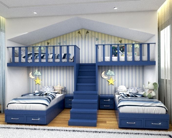 4 Children Bedroom Home Kids Bedroom Interior