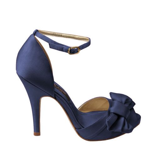 "My Something Blue <3... Nina Shoes- ""Electra"" in Navy Lustre"