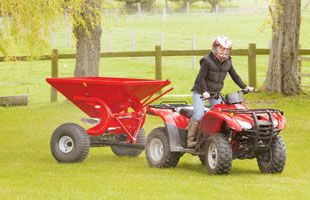 There's a mass of ATV equipment on the market aimed at making life easier for smaller farms and smallholders.