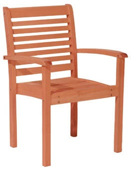 Rockwood Unfinished Furniture Eucalyptus Stacking Chair