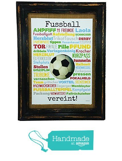 Fussball vereint! Druck Poster A4 Geschenk AnneSvea Typo Deko Fußball Soccer Verein Spiel Turnier Sieg Derby Trikot Pokal von der AnneSvea https://www.amazon.de/dp/B01MRJE5GS/ref=hnd_sw_r_pi_dp_--ykybK6JB8WP #handmadeatamazon