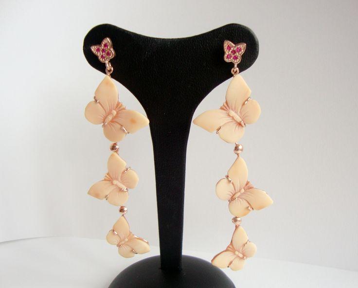 butterflies...handmade earrings