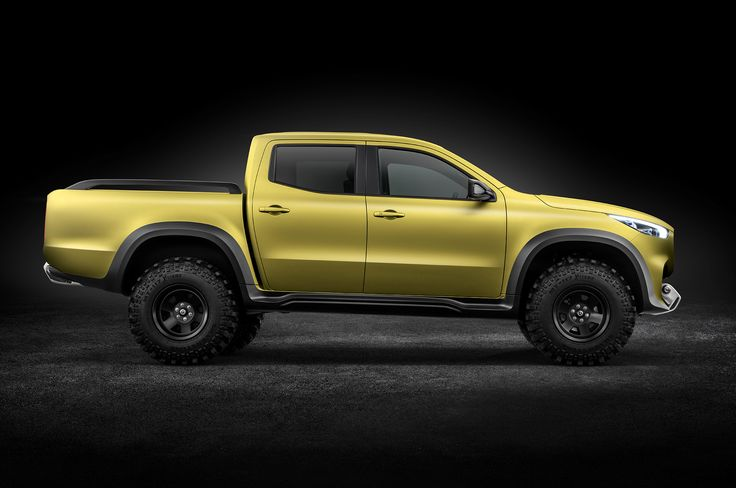 Mercedes X-class pick up, based on Nissan Renault platform  X220d, 163 hp, 2.3-liter 4-cylinder turbo-diesel, six-speed manual gearbox and rear-wheel drive with engage-able 4-wheel drive.   X250d, biturbocharged 190-hp version of the same unit, available with a manual or 7-speed automatic transmission.   X200 gasoline powered 166-hp, limited markets, Middle East.  X350d with 258-hp diesel V6  and permanent 4-wheel drive won't arrive until mid-2018.