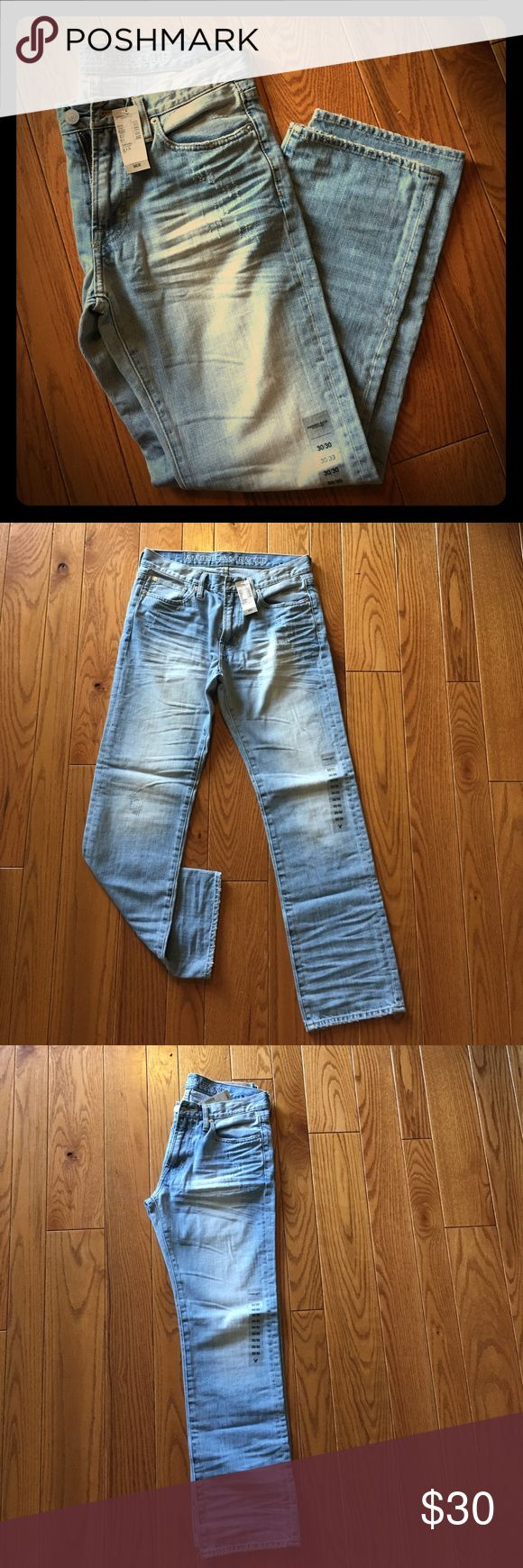 Men's American Eagle Jeans NWT American Eagle Men's 30x30 Original Straight legged jeans. 30 x 30 Color 919, Style 2737 American Eagle Outfitters Jeans Straight