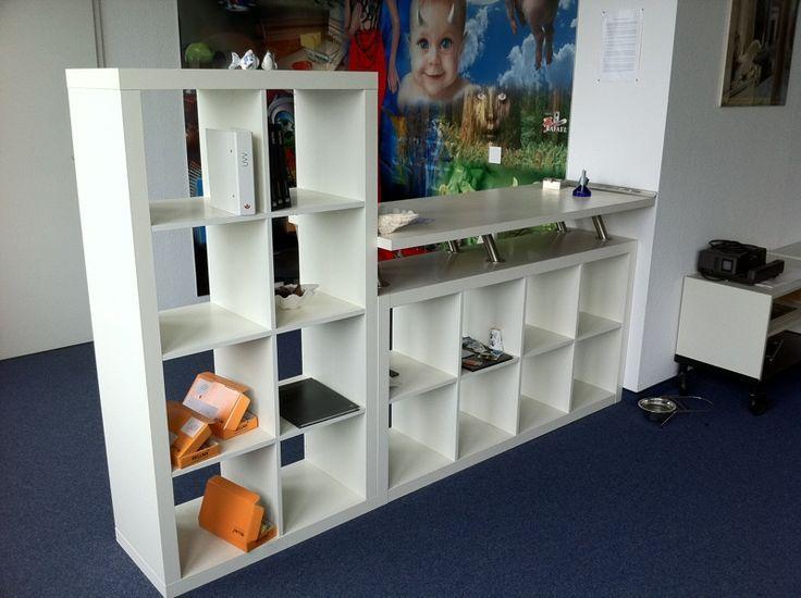Ikea Hackers Empfangstresen Fur Das Buro Ikea Reception Desk Ikea Room Divider Reception Desk Diy