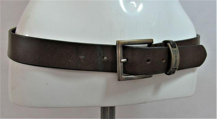 Kickers vintage brown leather belt fashion belt Male S/M Female M/L R15320 #style #fashion #love #woman #chic #eBay #BELT #sangriasuzie