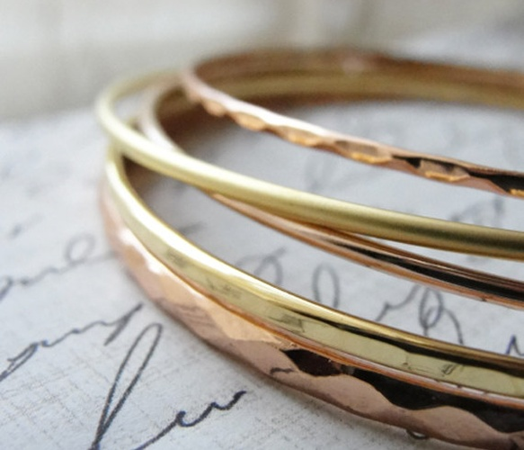 Gold and Rose Bangles