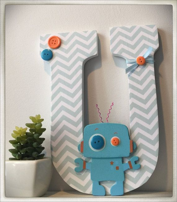 Robot Nursery. Nursery Letters. Wall letters. Bedroom by dmh1414