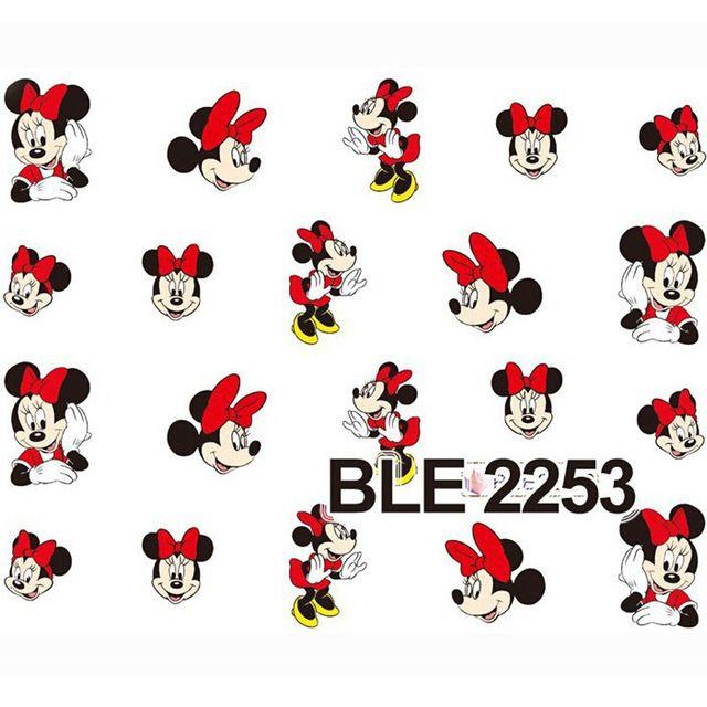 Наклейки на 1 листов красный мультфильм воды стикера наклейки для обертывания BLE2253
