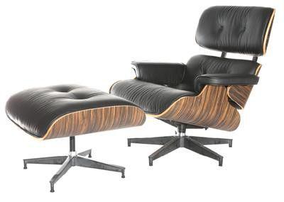 D2 fotel obrotowy z podnóżkiem insp. proj. Lounge Chair