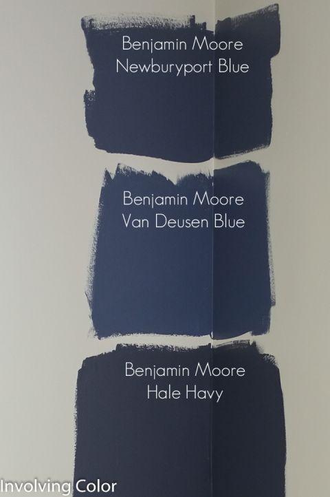Benjamin Moore navy paint color ideas