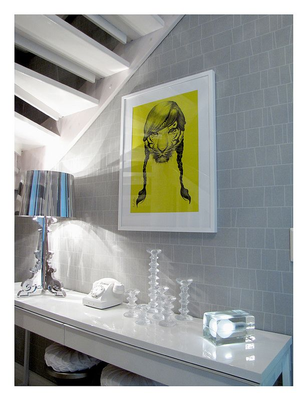 """Rock Candy"" art print by Valistika Studio and Kartell Bourgie lamp."