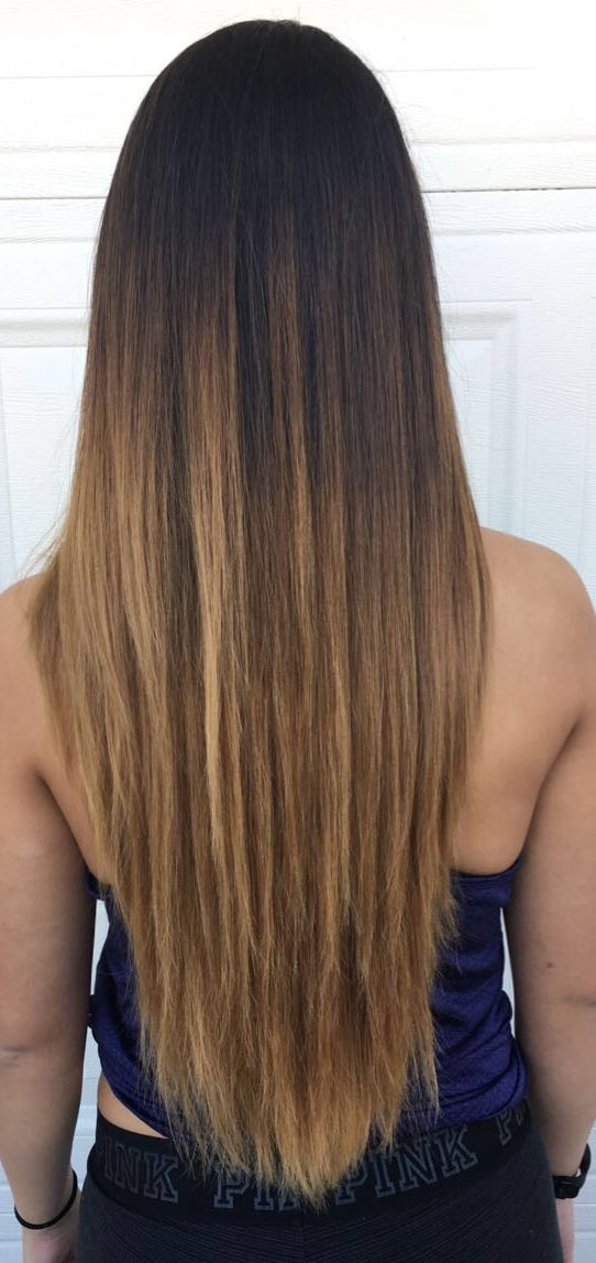 haircut for straight hair brown ombre v cut hair hair in 2019 1860 | dfb1e42009d5760a18b45c503e6d3ff9 v cut hairstyle v cuts