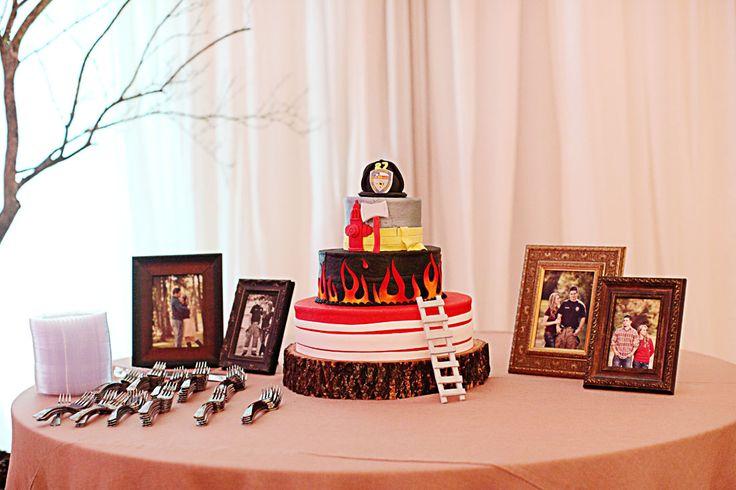 Firefighter Groom's Cake - Wedding Cake - So cute!! Micale + Brett | Wedding Day » The Girls Blog