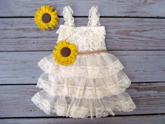 For Ruby-roo? Sunflower Flower Girl Dress-Sunflower by CountryCoutureCo on Etsy