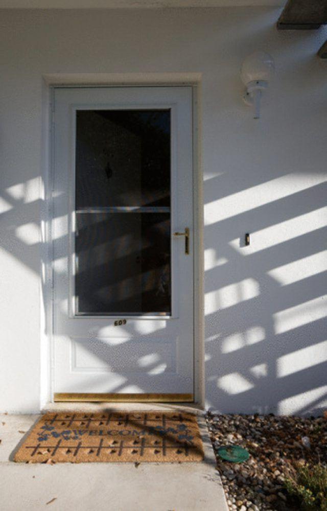 Paint Makes An Old Screen Door Look New.